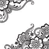 Ornamento do vetor da flor Fotografia de Stock