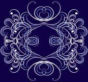 Ornamento do vetor no fundo do azul do dack. Fotografia de Stock