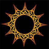 Ornamento do vetor, sol abstrato ilustração do vetor