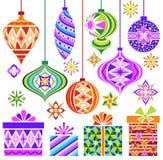 Ornamento do vintage do Natal do vetor Imagens de Stock