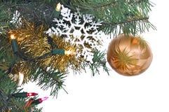 Ornamento dorato di natale immagine stock