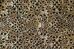 Ornamento dorato tradizionale tailandese decorativo Immagine Stock