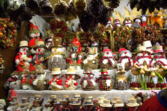 Ornamento dos bonecos de neve Fotos de Stock Royalty Free