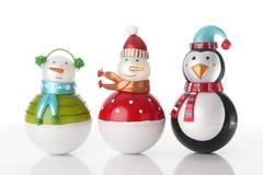 Ornamento dos bonecos de neve do Natal. Fotos de Stock