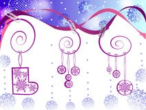 Ornamento dos elementos do Natal Foto de Stock Royalty Free