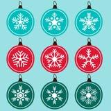 Ornamento dos flocos de neve Fotos de Stock Royalty Free