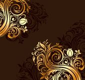 Ornamento dos redemoinhos Imagens de Stock Royalty Free