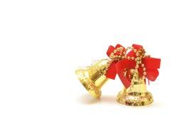 Ornamento dos sinos dourados Fotografia de Stock Royalty Free