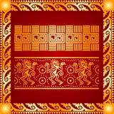 Ornamento dourado de indianos, do asteca e do Maya americanos ilustração royalty free