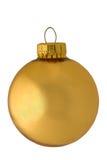 Ornamento dourado reflexivo clássico do Natal Foto de Stock Royalty Free