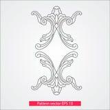 Ornamento e decoração, elementos do projeto Decoração da página Ilustração do vetor Isolado no fundo branco Fotos de Stock