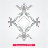 Ornamento e decoração, elementos do projeto Decoração da página Ilustração do vetor Isolado no fundo branco Imagens de Stock Royalty Free