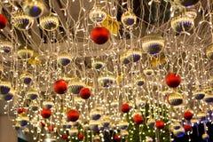 Ornamento e decorações do Natal Imagem de Stock
