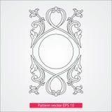 Ornamento e decorazione, elementi di progettazione Decorazione della pagina Illustrazione di vettore Isolato su priorità bassa bi Fotografie Stock