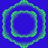 Ornamento e quadro ondulados de cores azuis e verdes ilustração royalty free