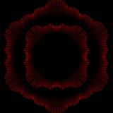 Ornamento e quadro ondulados do teste padrão encaracolado no co vermelho e preto ilustração royalty free