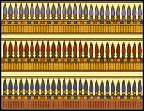 Ornamento egípcio, os botões de Lotus ilustração stock