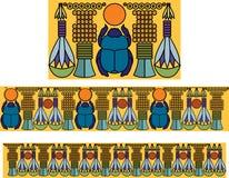 Ornamento egipcio con un escarabajo. Modelo antiguo. Foto de archivo