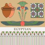 Ornamento egiziano con le piante Fotografie Stock