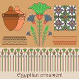 Ornamento egiziano con le piante Immagine Stock Libera da Diritti