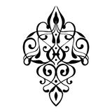 Ornamento elegante del damasco Imagen de archivo
