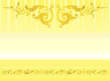 Ornamento elegante do ouro Fotos de Stock Royalty Free