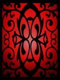 Ornamento elegante en ventana de cristal manchada ilustración del vector