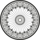Ornamento em um círculo - aço de molde e ornamento do ferro forjado Imagens de Stock Royalty Free