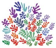 Ornamento en el estilo de Henri Matisse (vector) Fotografía de archivo libre de regalías