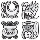 Ornamento en el estilo del maya. Foto de archivo