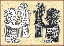 Ornamento en el estilo del maya Fotos de archivo