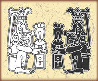 Ornamento en el estilo del maya Imágenes de archivo libres de regalías