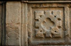 Ornamento en la pared Florencia, Italia Fotografía de archivo libre de regalías