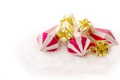 Ornamento en una Navidad Imagenes de archivo