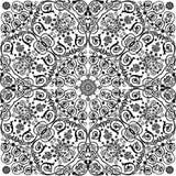 Ornamento encrespado negro tradicional simétrico stock de ilustración