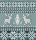 Ornamento escandinavo del invierno Modelo hecho punto inconsútil de Cristmas Foto de archivo libre de regalías