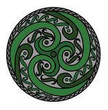 Ornamento espiral céltico Fotografía de archivo libre de regalías