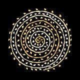 Ornamento espiral floral, bosquejo de oro para su diseño libre illustration