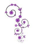 Ornamento espiral rosado Foto de archivo libre de regalías