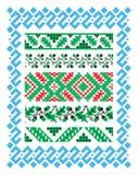 Ornamento etnico dello slavo con le foglie della quercia e delle ghiande royalty illustrazione gratis