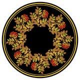 Ornamento etnico russo di vettore Decorazione di stile ed elemento russi di progettazione Immagini Stock