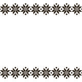 Ornamento etnico sacro del Belorussian nero, modello senza cuciture Illustrazione di vettore Ornamento tradizionale sloveno del m Fotografie Stock