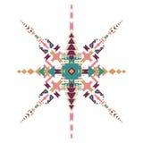 Ornamento etnico tribale di vettore Elementi aztechi della decorazione Progettazione tribale degli elementi isolata su fondo past Fotografie Stock