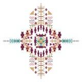 Ornamento etnico tribale di vettore Elementi aztechi della decorazione Progettazione tribale degli elementi isolata su fondo past Fotografia Stock Libera da Diritti