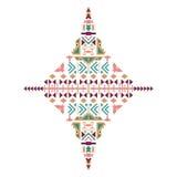 Ornamento etnico tribale di vettore Elementi aztechi della decorazione Progettazione tribale degli elementi isolata su fondo past Fotografia Stock