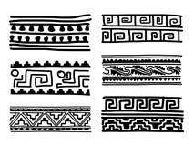 Ornamento fatto a mano etnico per la vostra progettazione Fotografia Stock Libera da Diritti