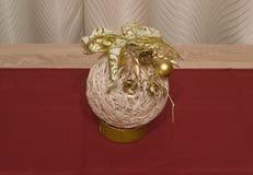 Ornamento feito à mão da árvore de Natal fotografia de stock royalty free