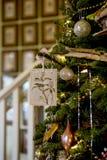 Ornamento feito a mão do Natal Fotografia de Stock Royalty Free