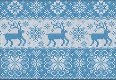 Ornamento feito malha com deers Imagem de Stock