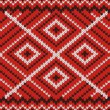 Ornamento feito malha vermelho Fotografia de Stock Royalty Free